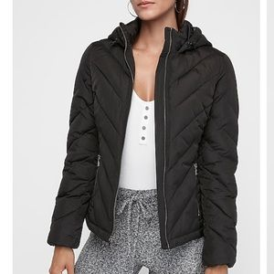 Express hooded puffer jacket